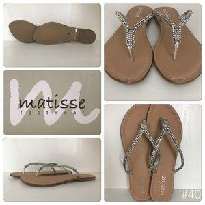 Matisse Footwear Silver Bling Sandals